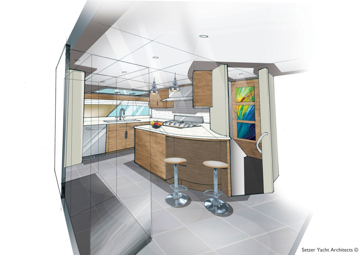 Outer Reef Trident 3000 - Galley