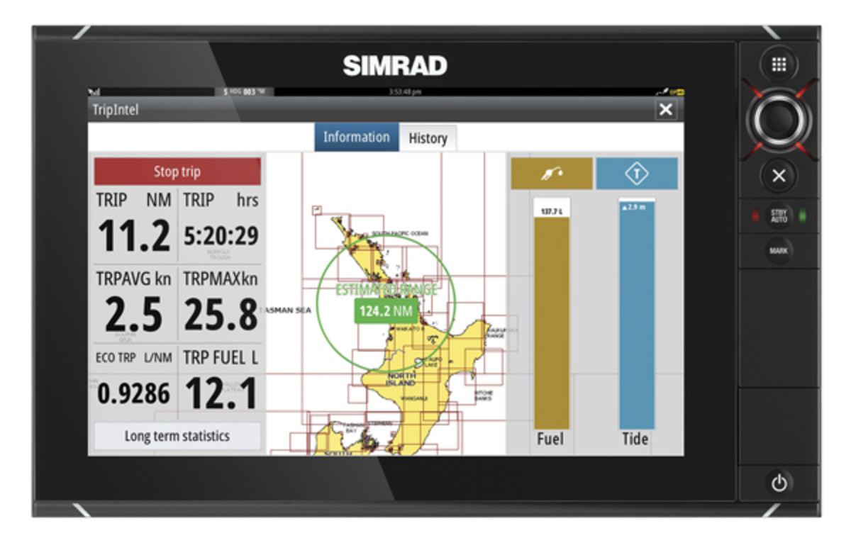 Simrad TripIntel Navigational Interface