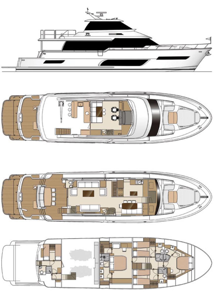 Horizon V80 deckplans
