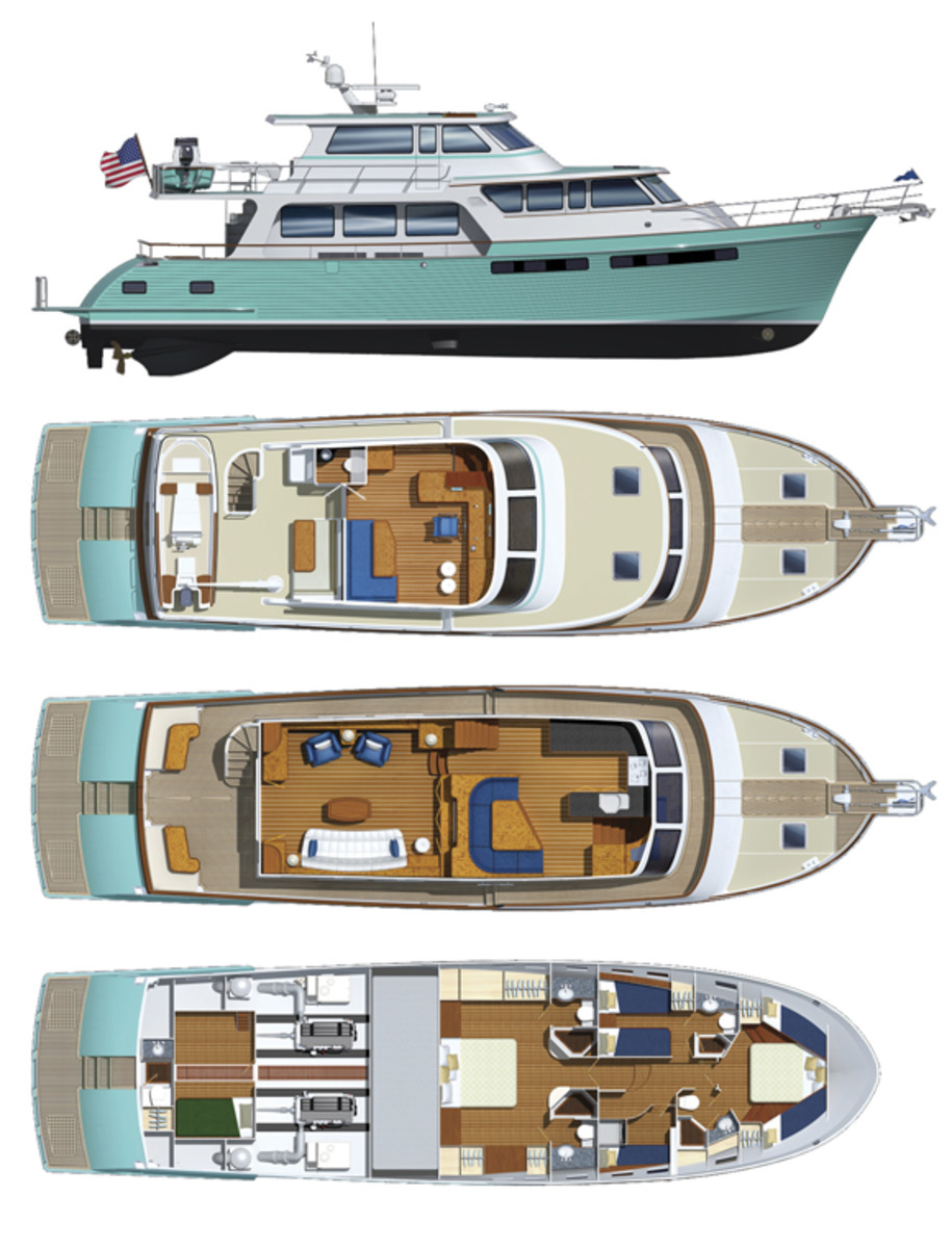 Marlow Yachts 66E layout diagram