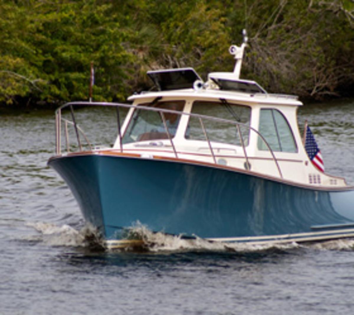 A Hinckley yacht