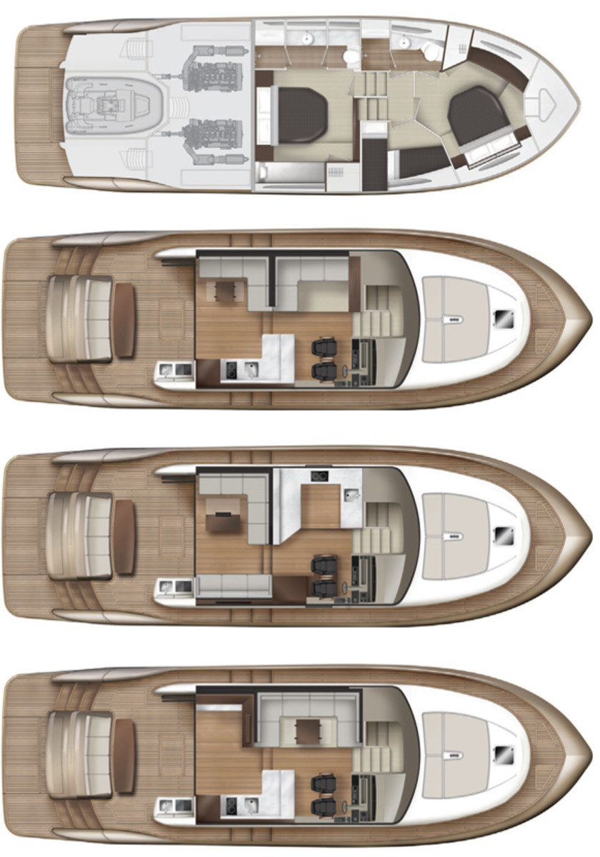 Elandra 53 Sport Yacht layout diagram