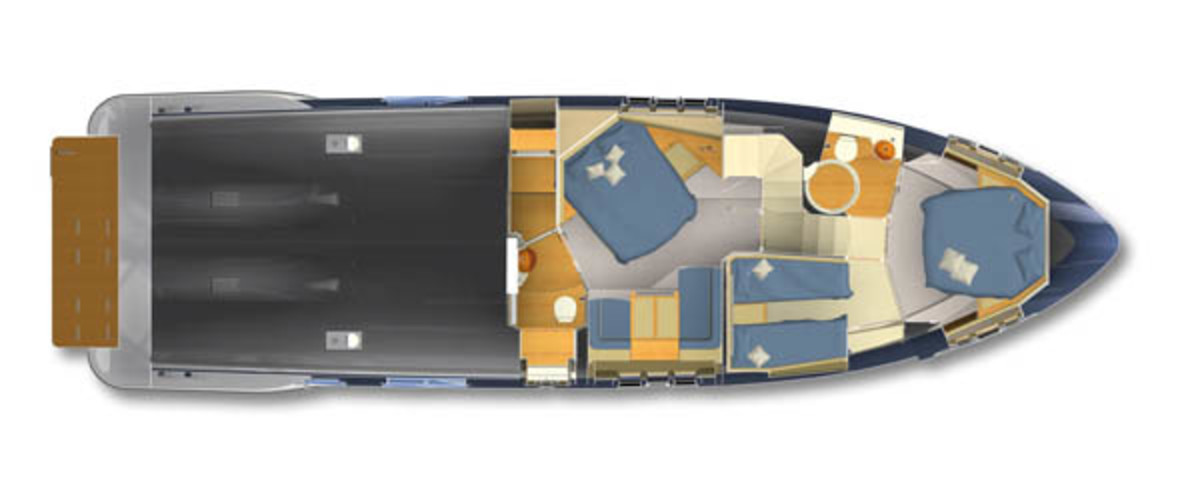 Azimut 60 layout diagram - staterooms