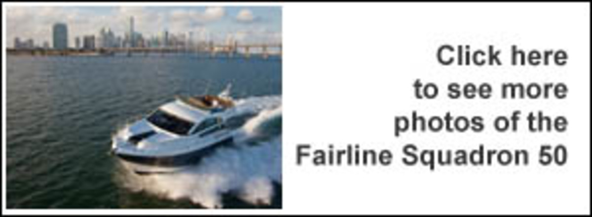 Click here to see more photos of the Fairline Squadron 50