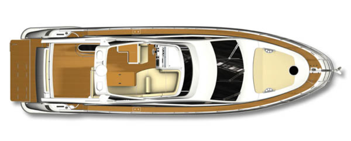 Azimut 60 layout diagram - topside
