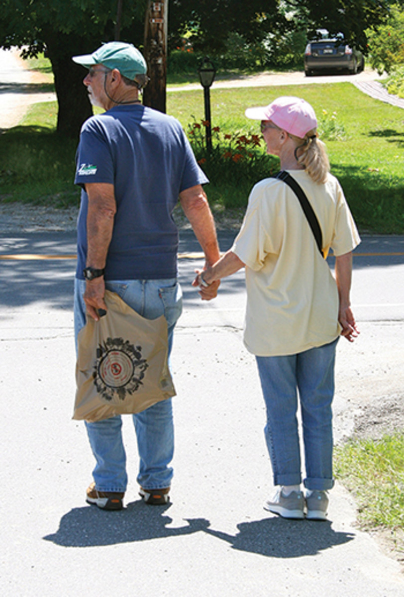 (The Kesslers make a stop near Brooksville United Methodist Church in Bucks Harbor, Maine)