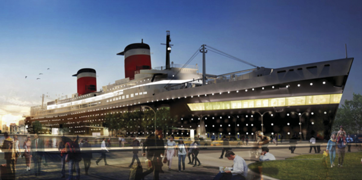 S.S. United States rendering