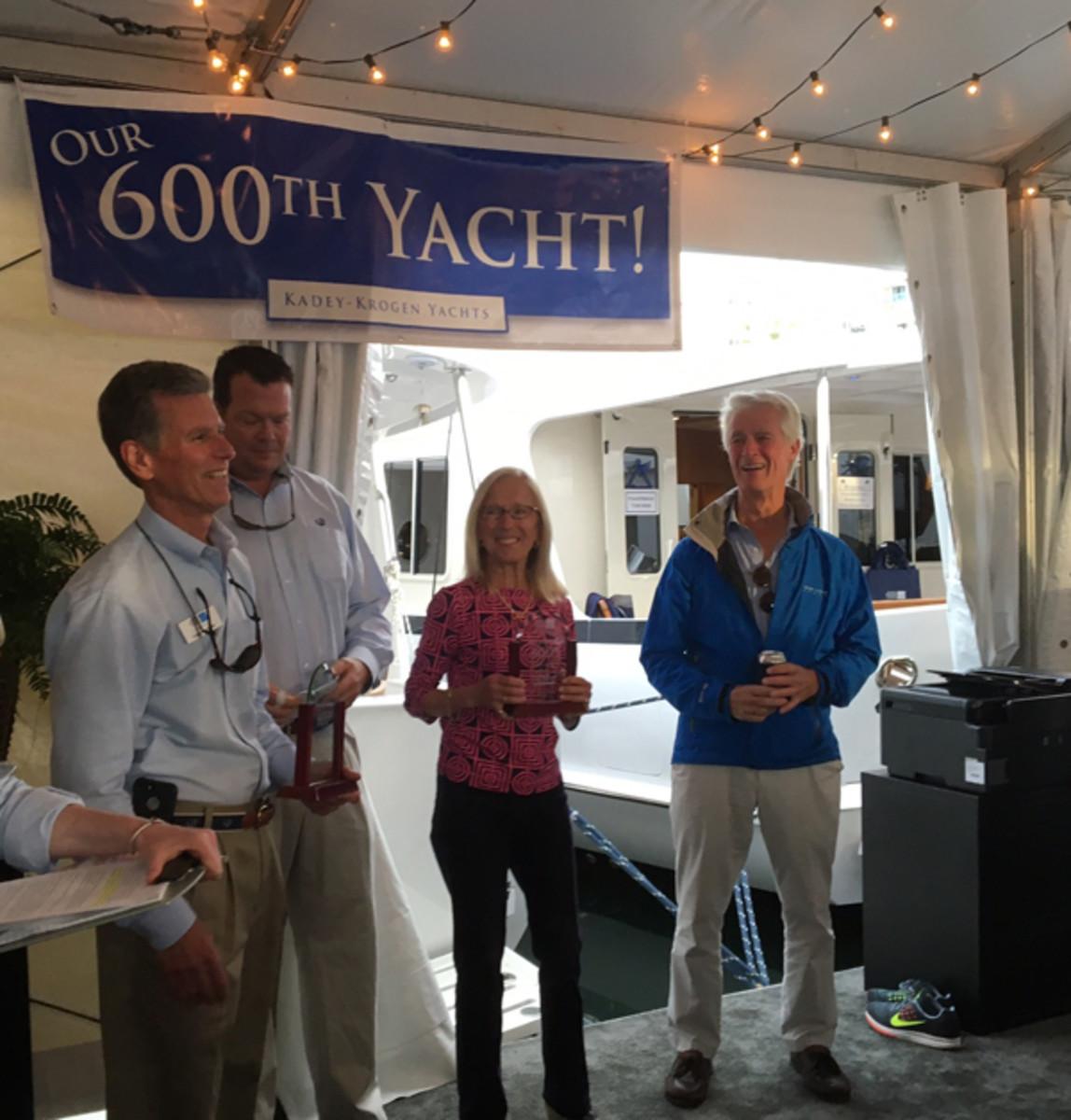 Kadey Krogen celebrated its 600th yacht