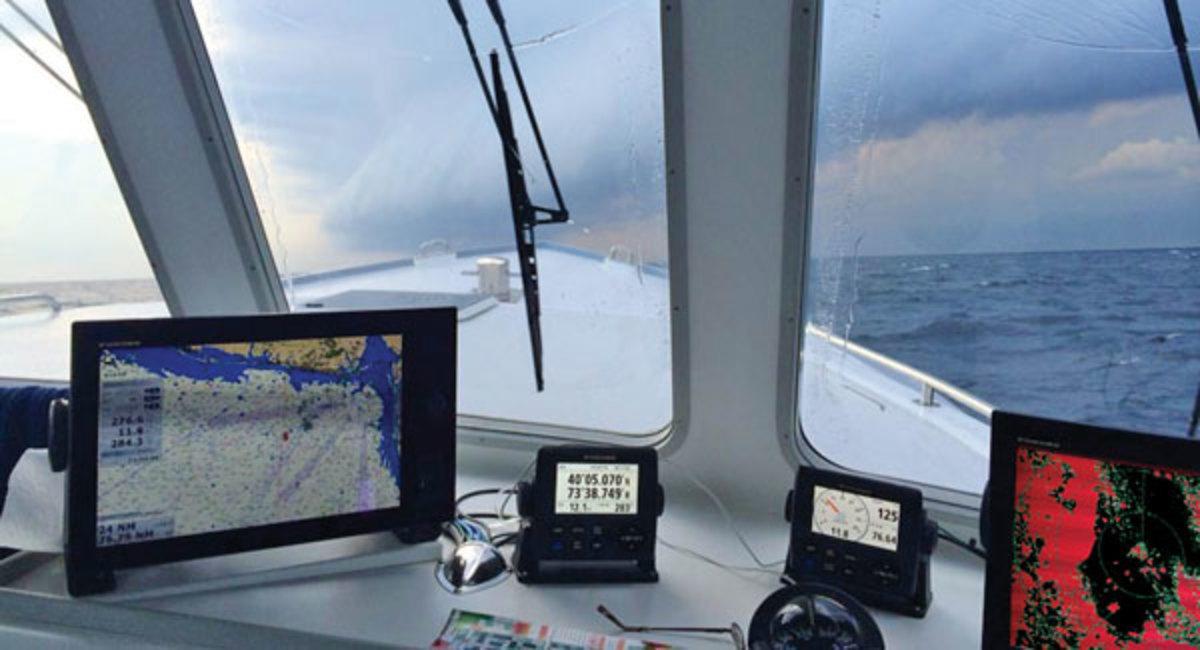 fishing electronics on helm