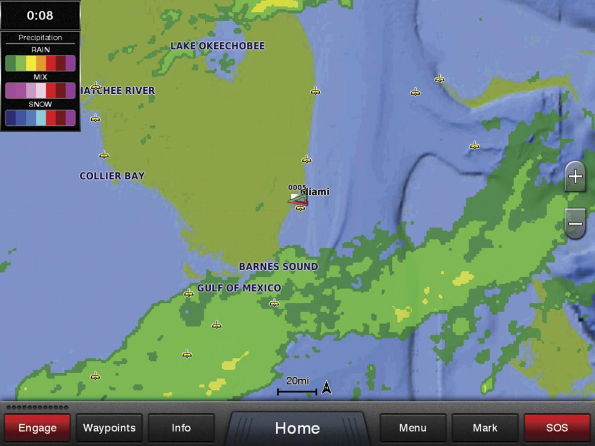 Garmin weather data