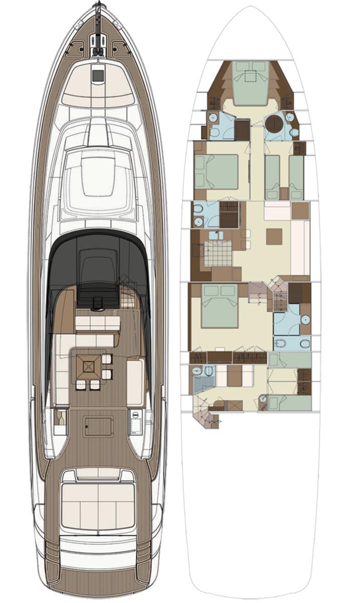 Riva Florida 88 layout diagram
