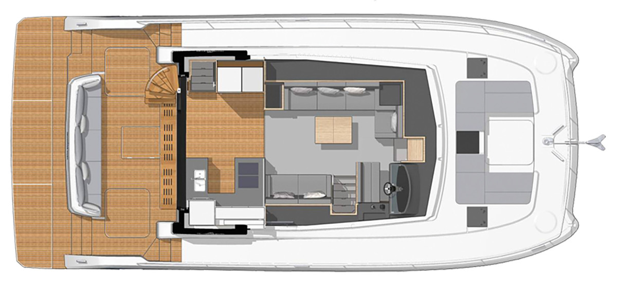 Fountaine Pajot 44 layout diagram
