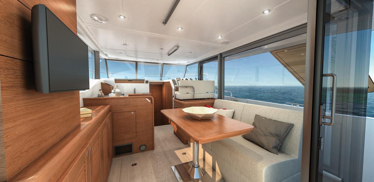 Beneteau's Swift Trawler 35 Interior Salon