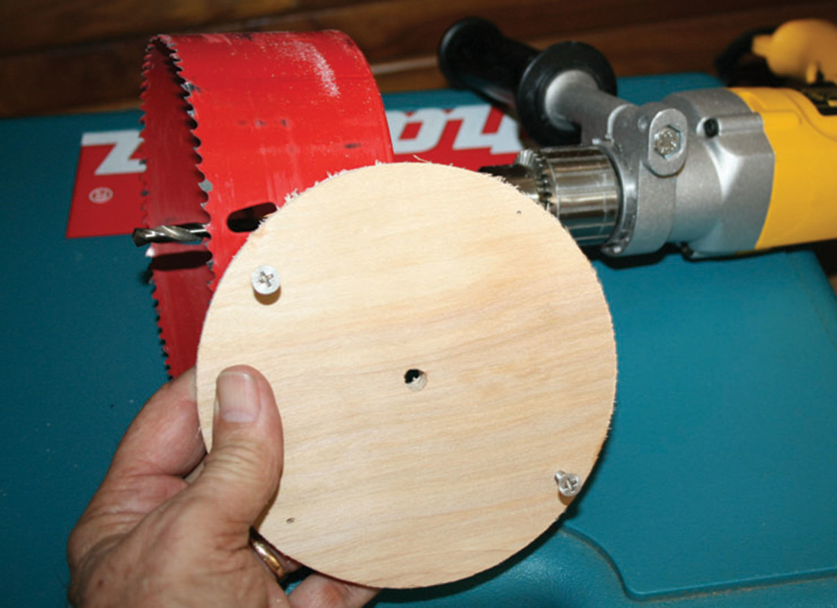 Use a disc as a jig to guide for clean cuts.