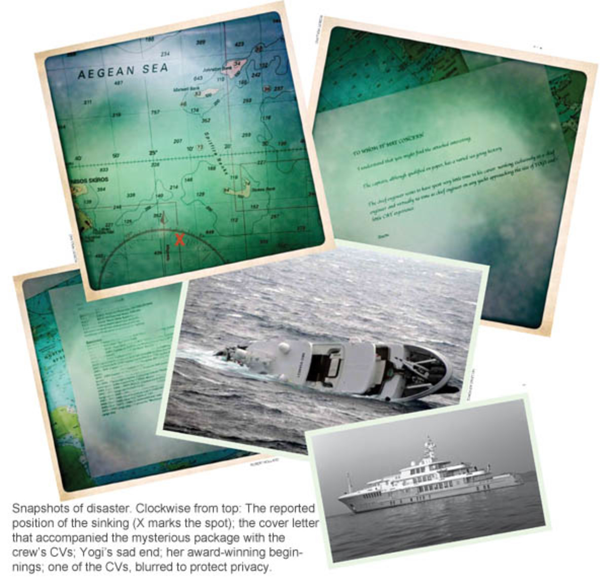 Yogi sinks, various images of the disaster