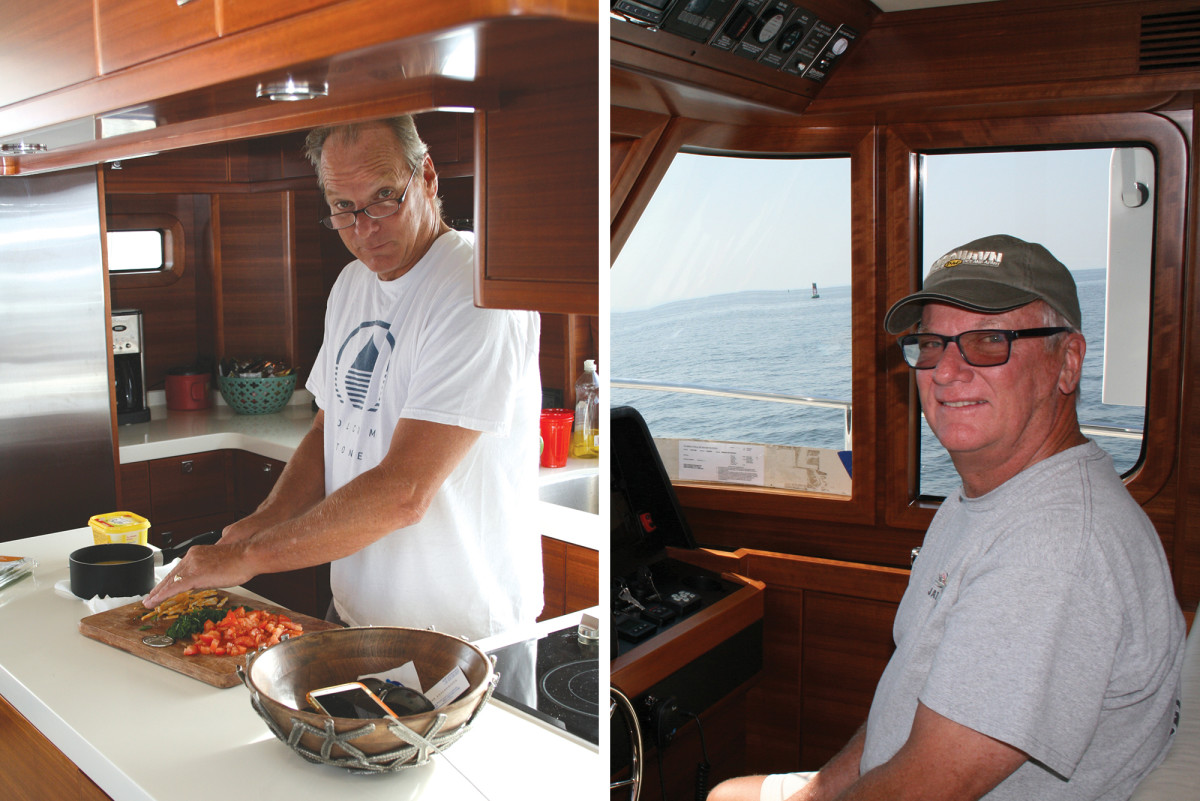 Spending a few days with the Leishman boys—Jim (right) and Jeff—on board the new Nordhavn 59 Coastal Pilot proves both exciting and, in a brotherly way, inspiring.