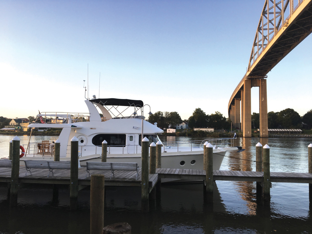 The 59 dockside in Chesapeake City.