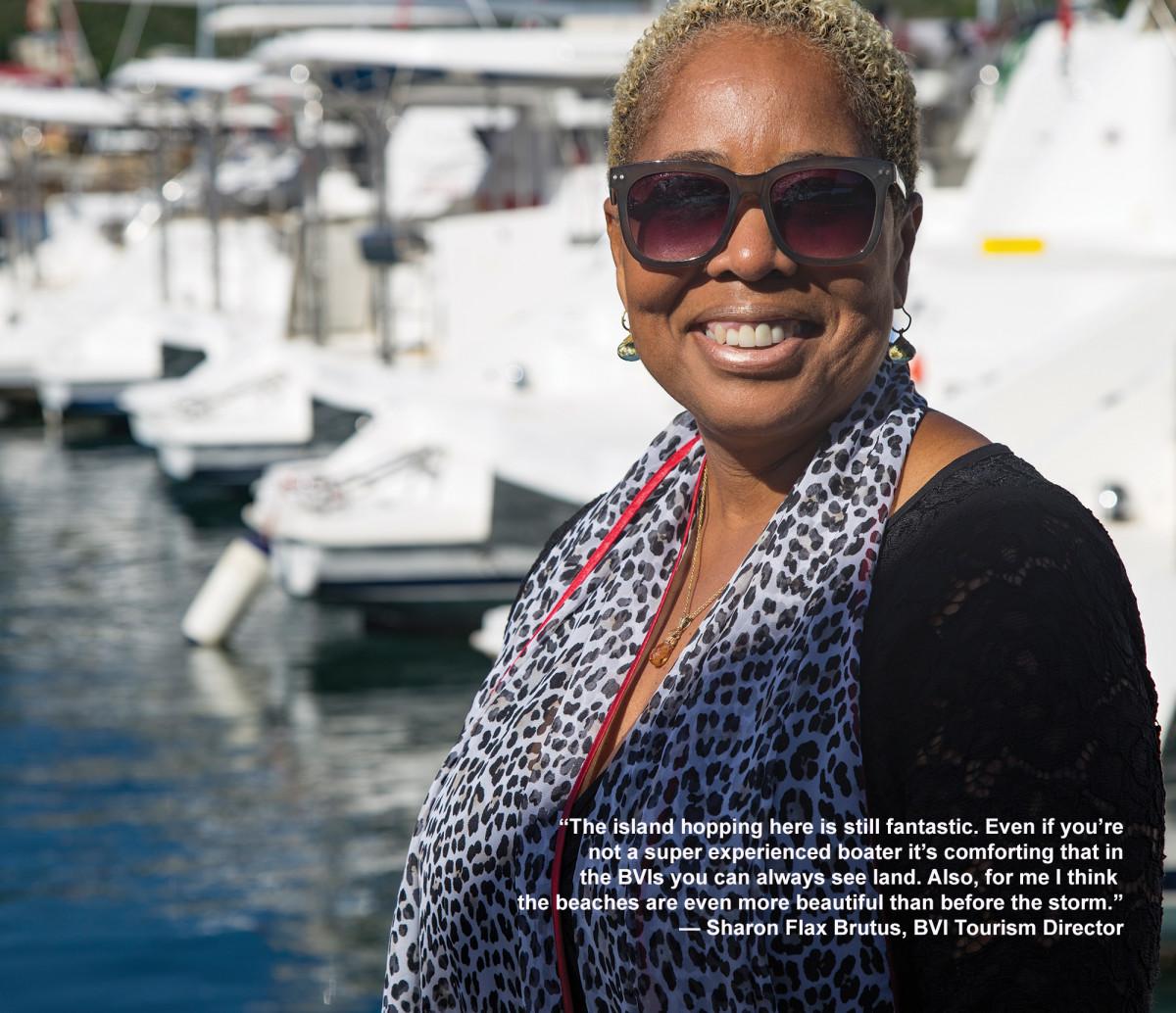 Sharon Flax Brutus, BVI Tourism Director