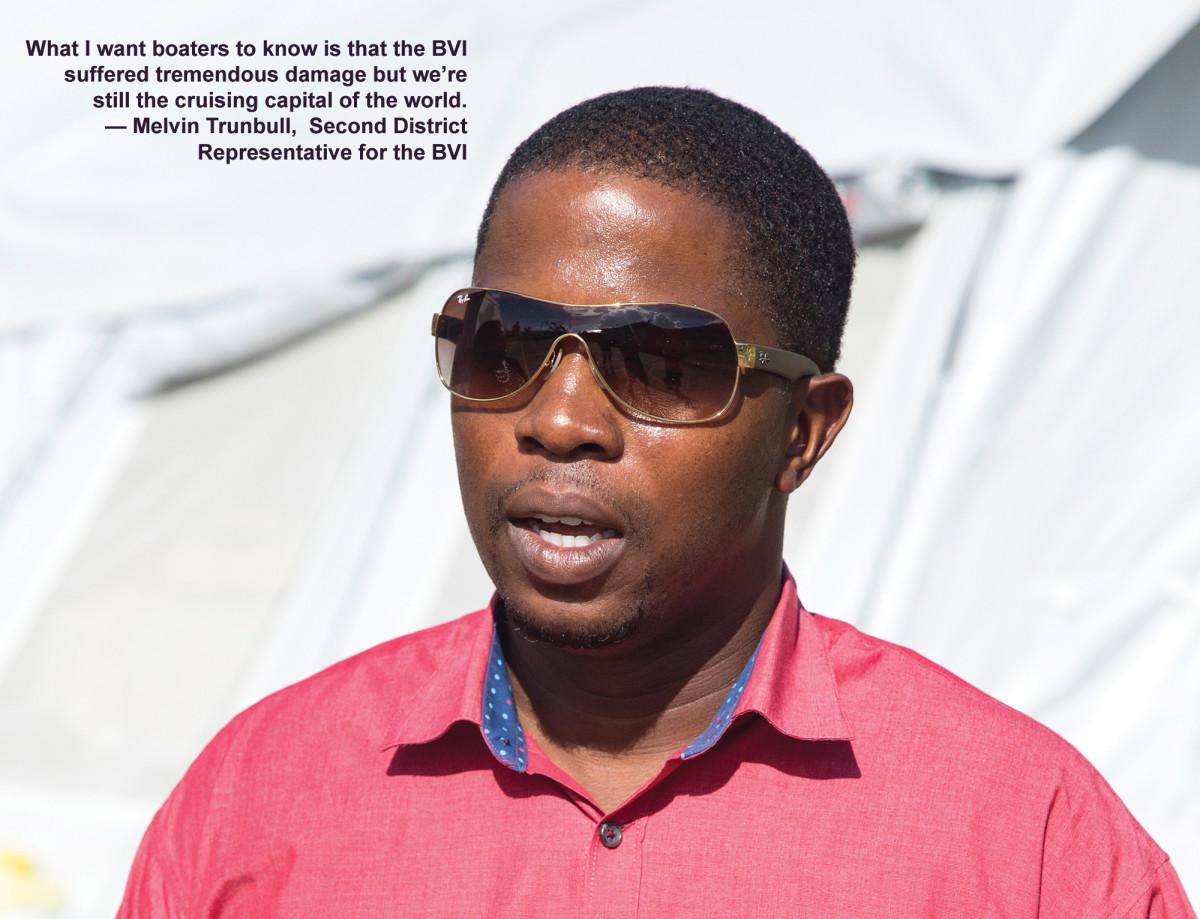 Melvin Trunbull, Second District Representative for the BVI