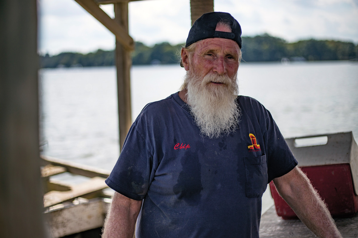 """""""Chip"""" is a semi-retired waterman and firewood seller, after spending most of his life as a surveyor for the D.C. Metrorail. His answer to how crabbing pays: """"If you're the captain it pays pretty good, but anything is better than nothin'."""""""