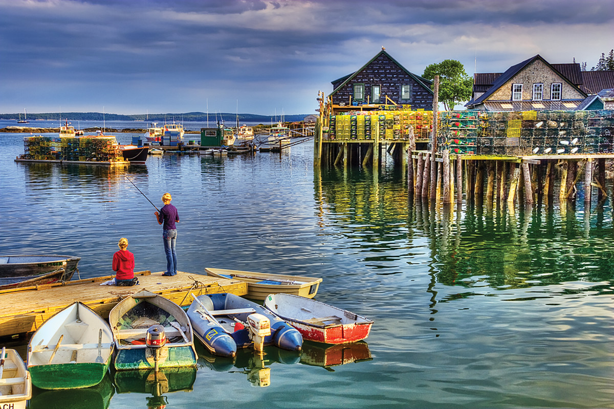 Fishing in Bass Harbor
