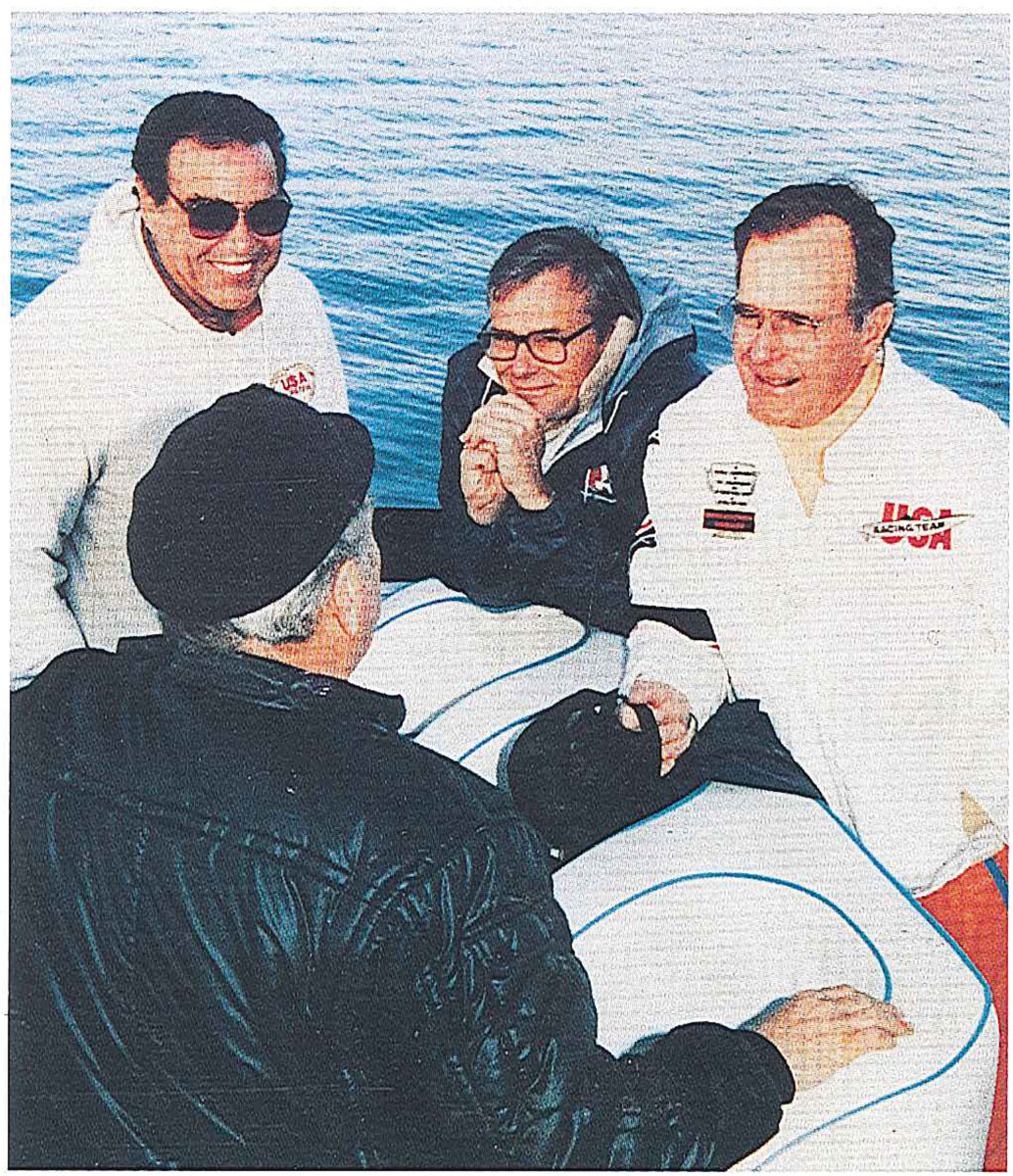 George H.W. Bush, right, was a close friend who initially threw his weight behind the murder investigation.