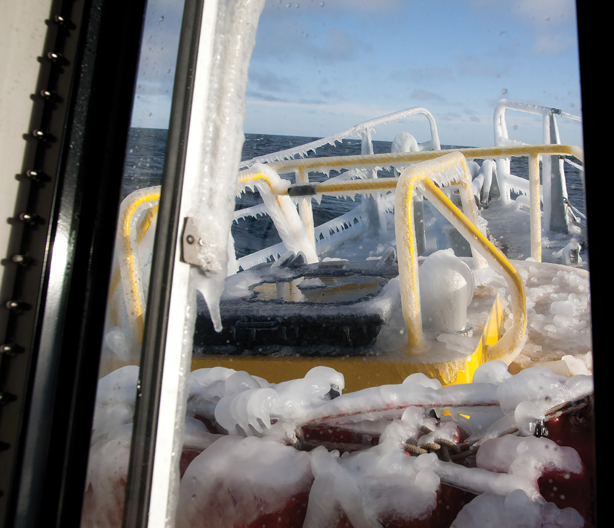 Deep coats of frozen ice on the foredeck is a small price to pay to experience this largely untouched piece of the earth.