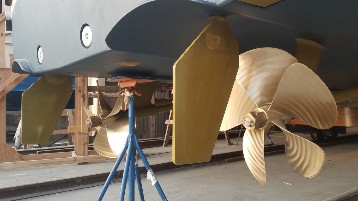Rule of thumb: incorporate a little bit of toe-in on the rudders based on outboard-turning props.