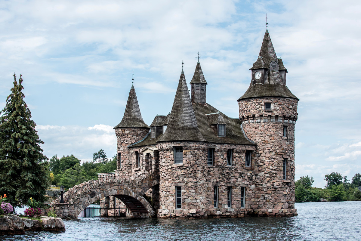 The Boldt Castle boathouse is as extravagant as the castle itself.