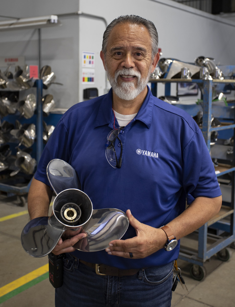 Thirty-eight-year veteran at Yamaha Precision Propeller Albert Durant