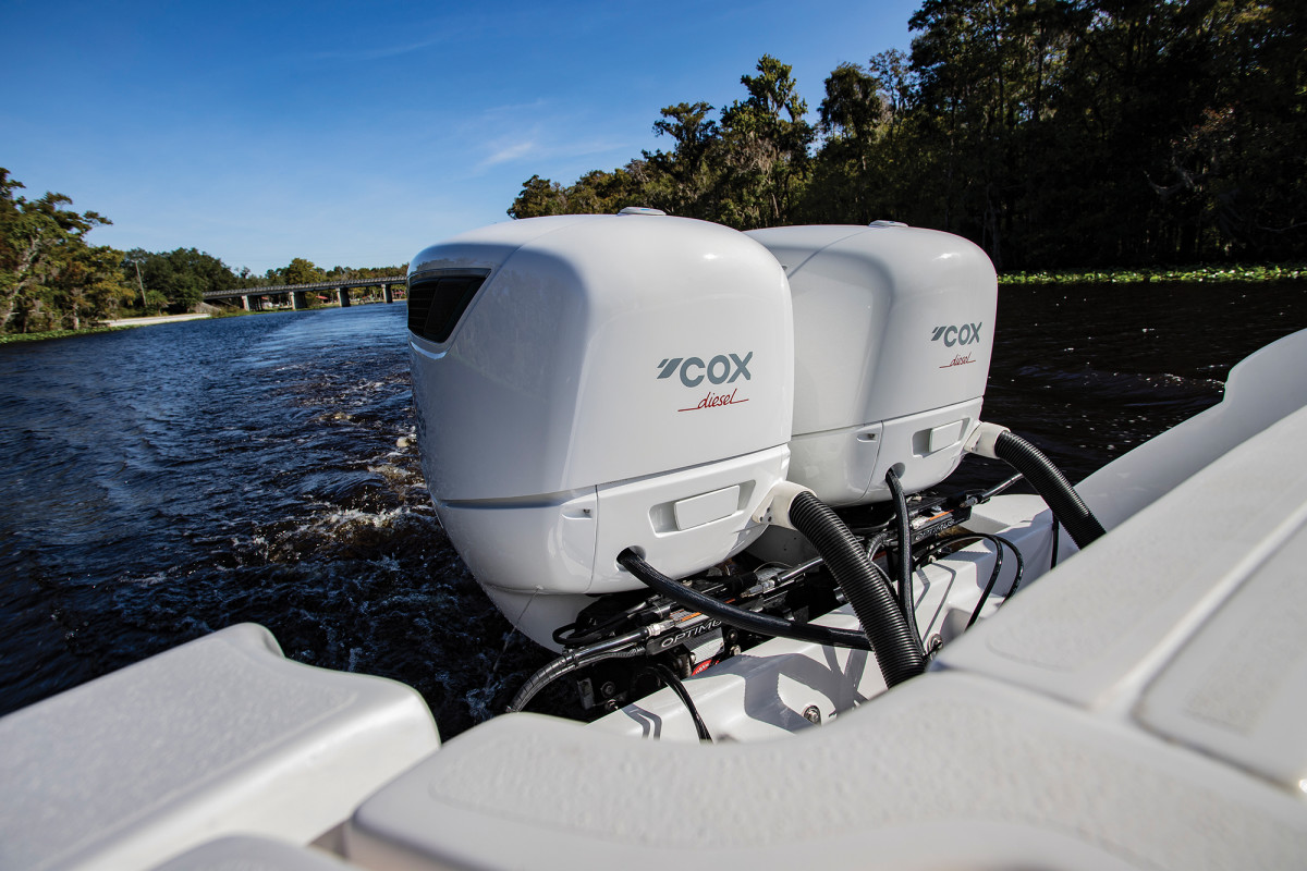 Roughly twice the price of a gasoline-fired product, Cox's diesel outboards nevertheless look to shake up the outboard market.