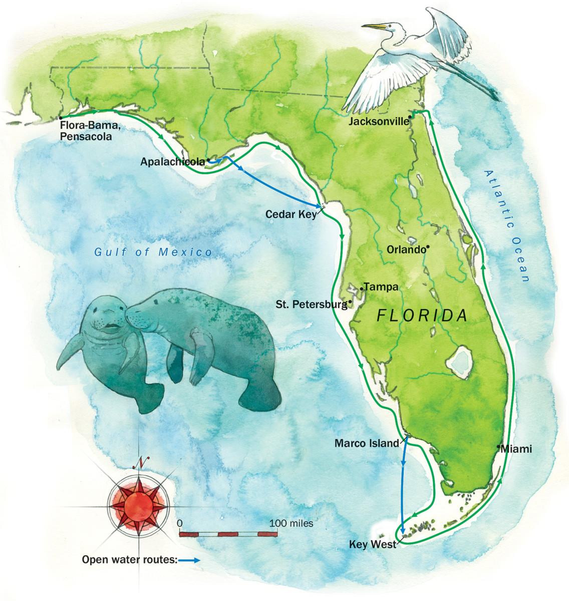 01-Florida Skiff Challenge map
