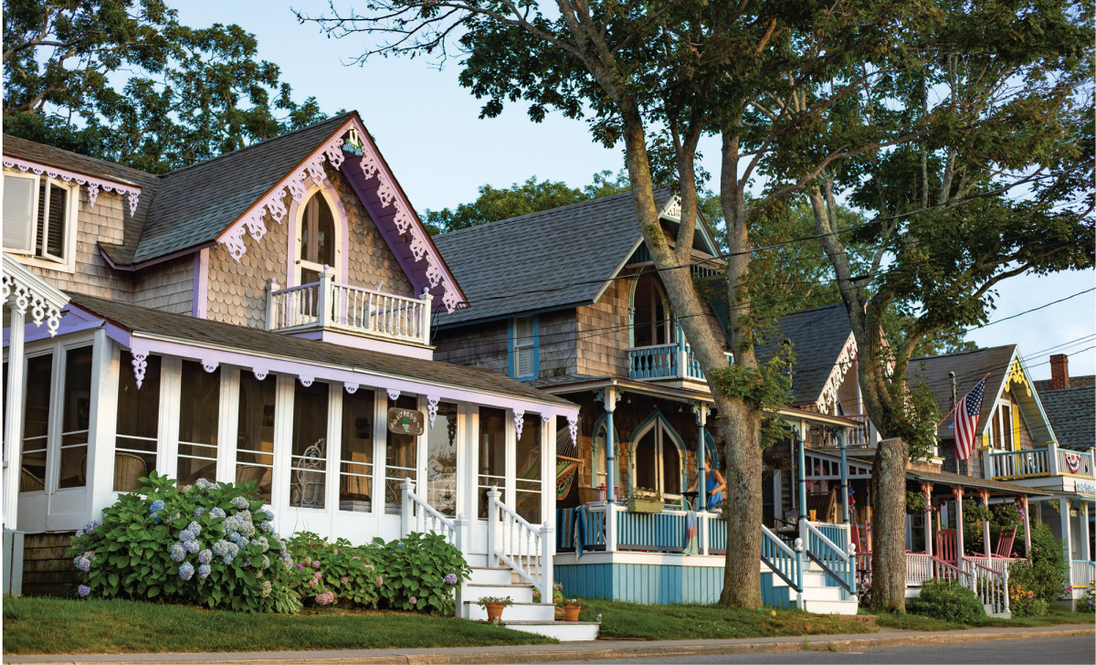 The gingerbread houses of Oak Bluffs.