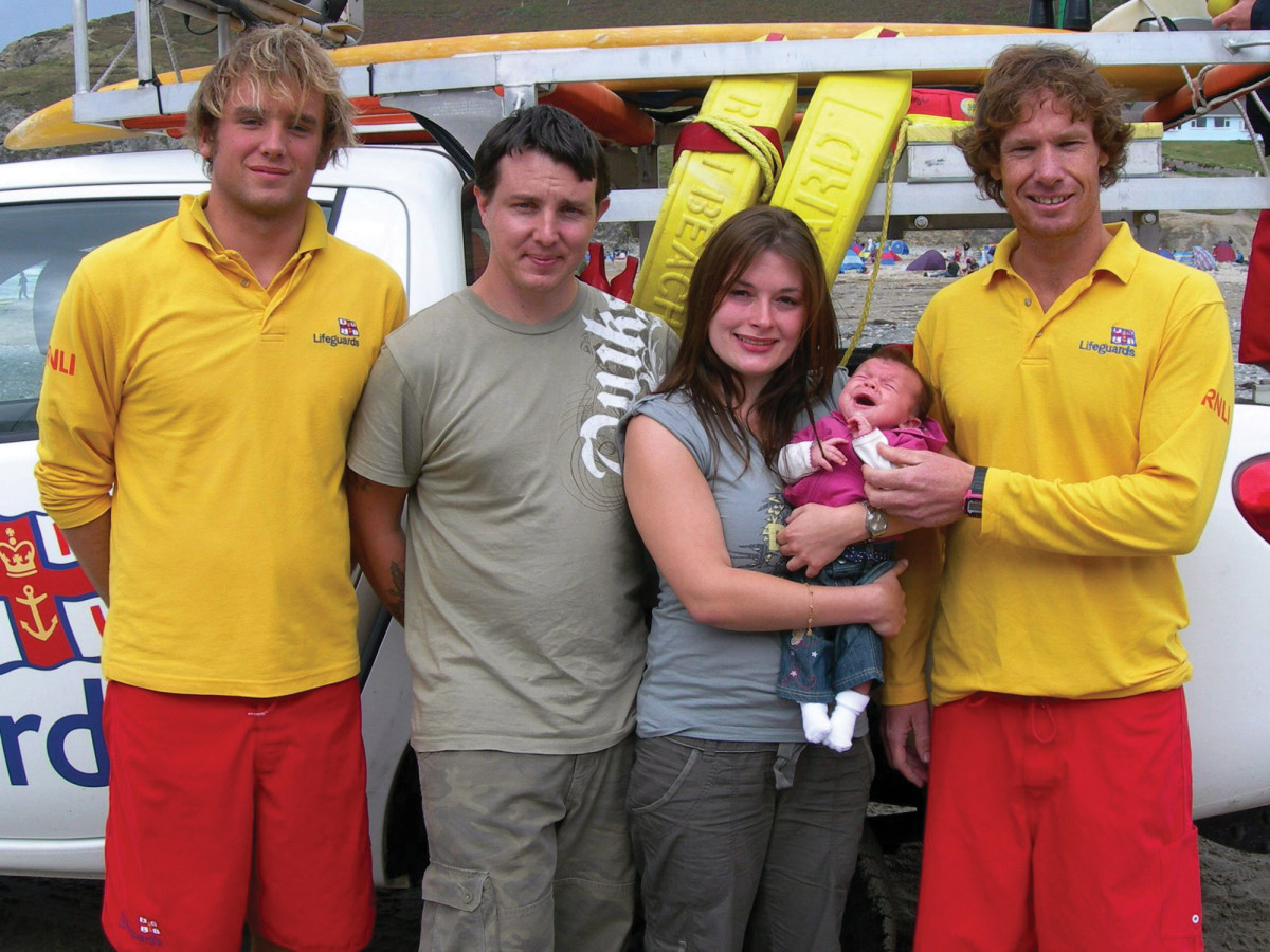 "RNLI lifeguards are ""the reason I have my family today."""