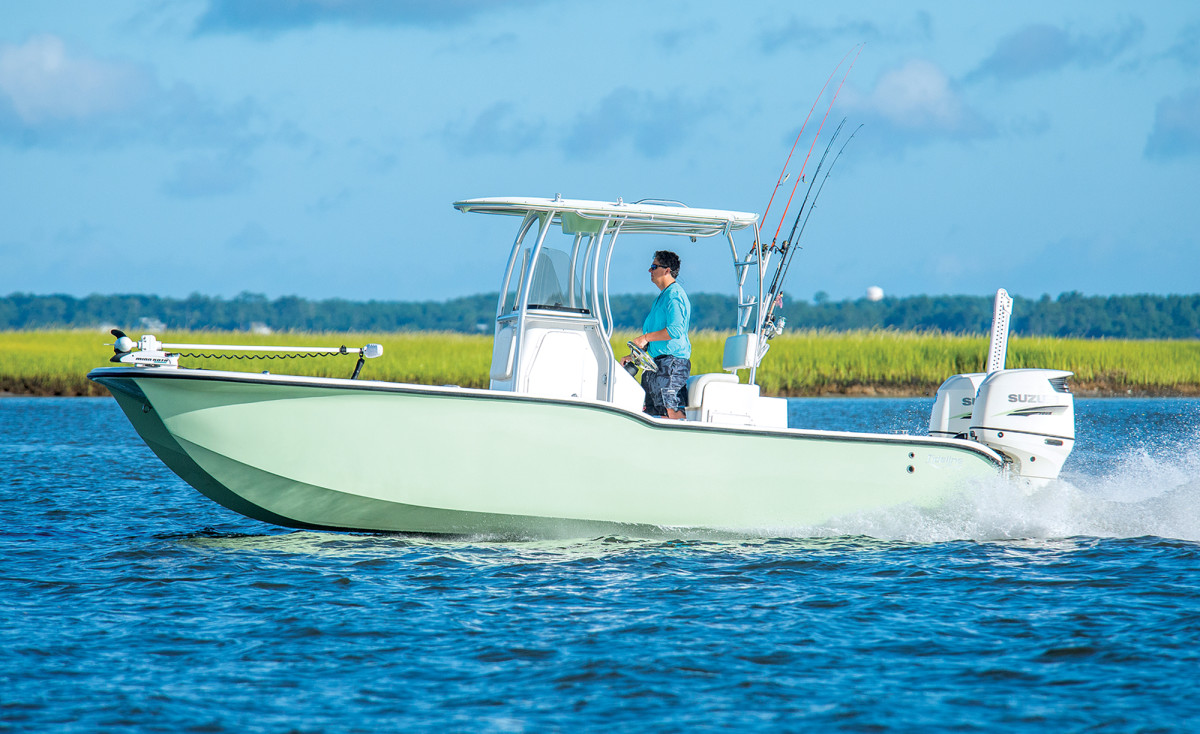 The Tideline 235 is the builder's smaller sibling to its 36-footer.