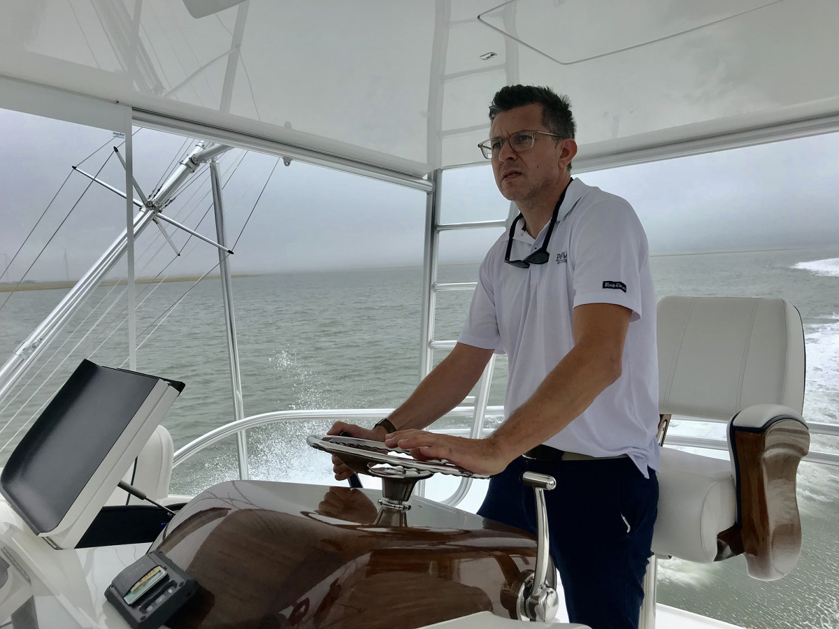 The author testing the Viking 58
