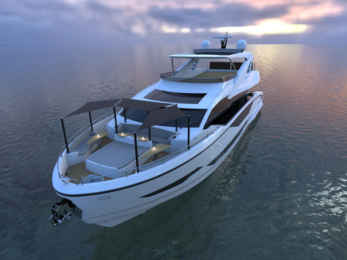 Sunseeker Project 8X Foredeck