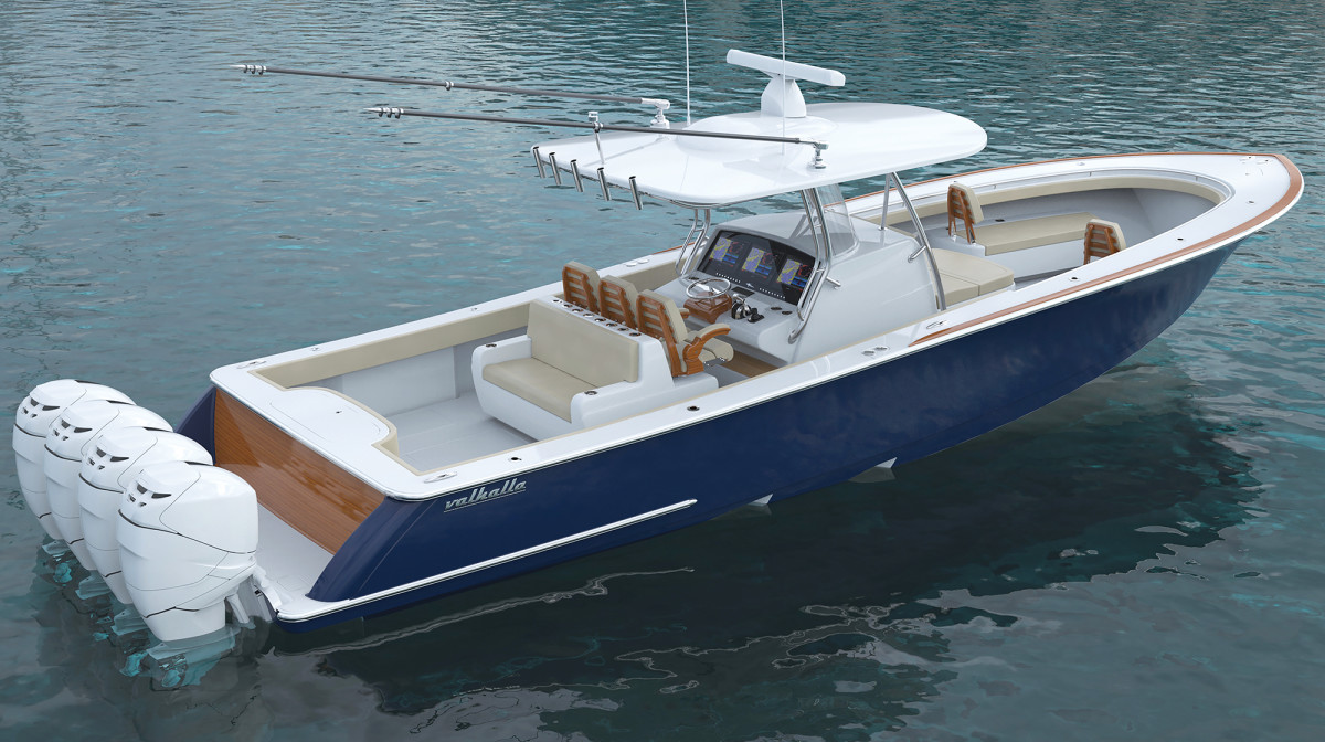 Feast your eyes on Valhalla's V-41. Will this boat change the center console market? Time will tell.