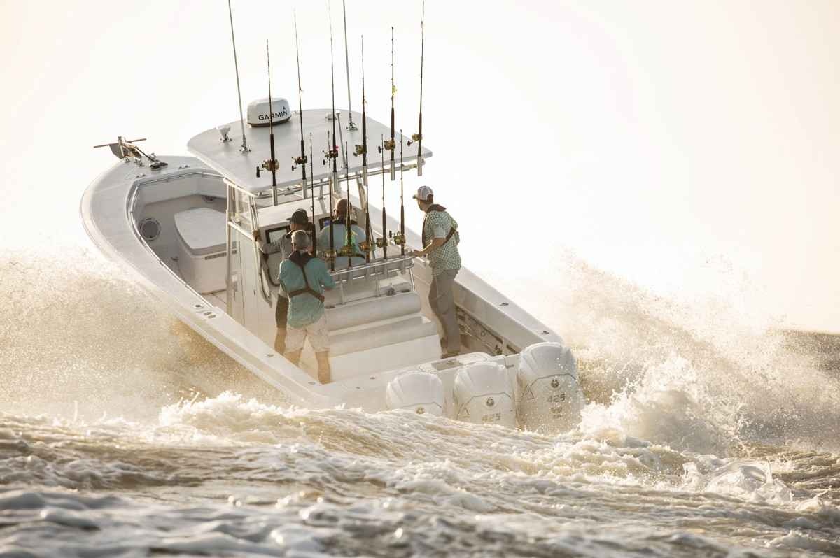 Yamaha's new XTO Offshore 425-hp outboards are designed to push big saltwater boats.