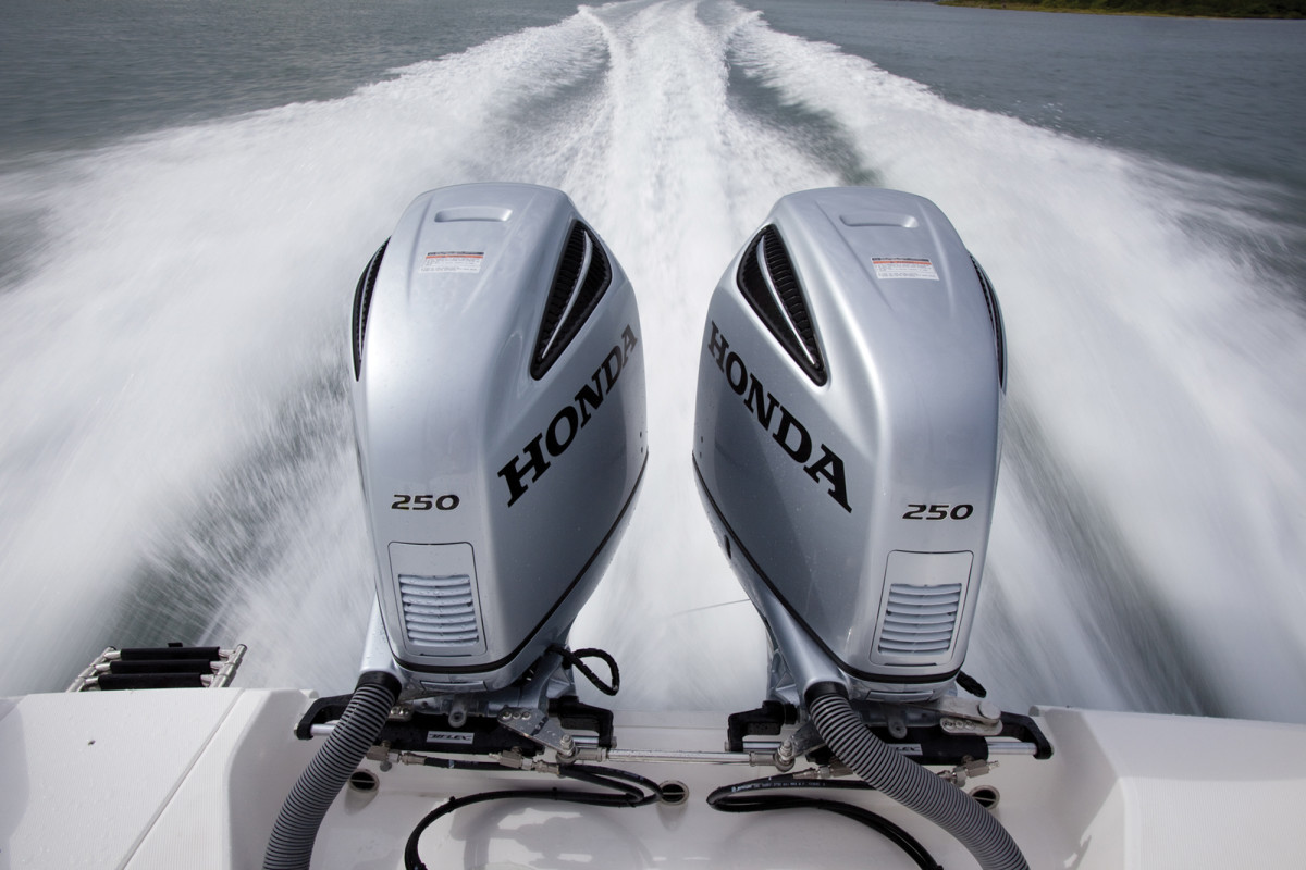 Honda introduced its biggest outboard, a 250-hp model, at last year's Miami boat show.