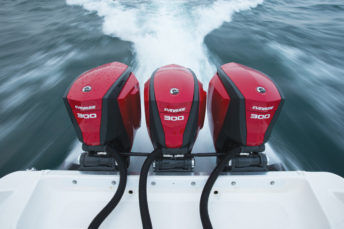 Evinrude is the lone manufacturer of two-stroke outboards, which have better bottom-end torque.