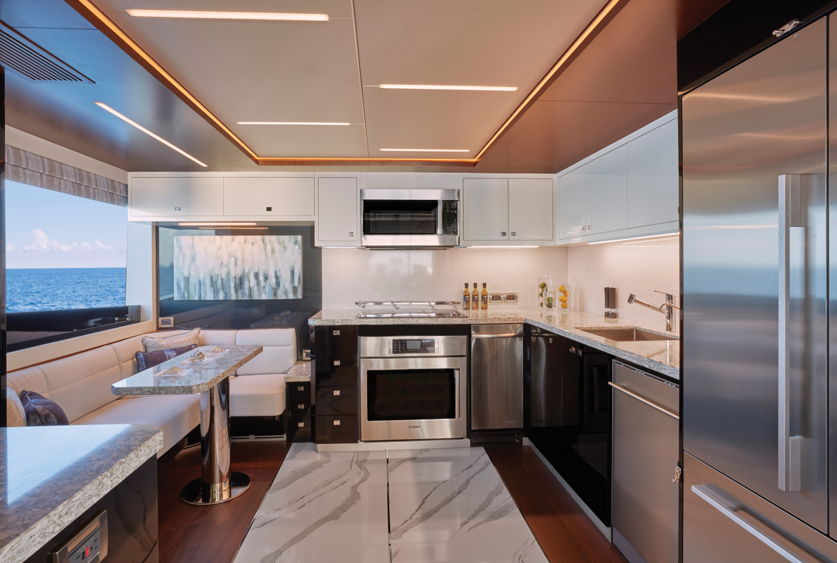 Now you see it, now you don't: Cook in public or privacy in the galley.