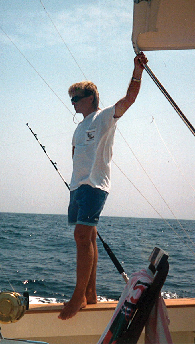 Healey's love of offshore fishing started when he was a teenager.