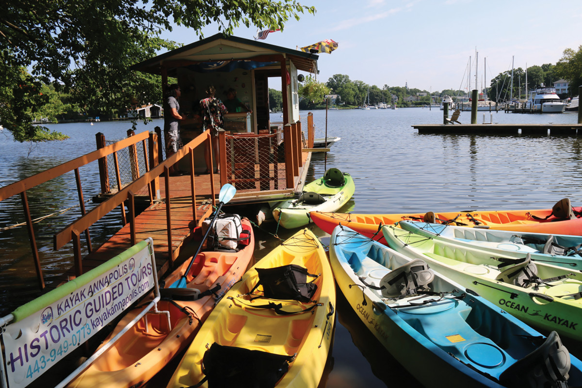 Opt for a guided kayak tour in the summer months