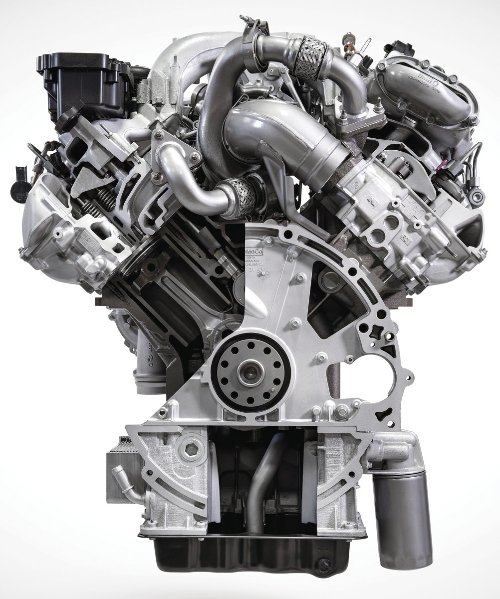 The class-leading 6.7-liter diesel powerplant that's the heart of the Super Duty series is rated at 475 hp with a whopping 1,050 feet-pounds of torque.