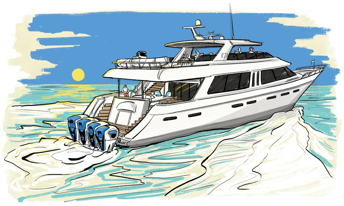 Outboard-powered super yachts? Time will tell.