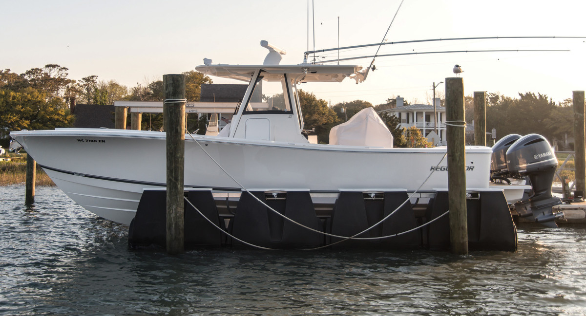 The benefits of a boat lift include a reduction in marine growth and corrosion, peace of mind during rough weather and easier washdowns.