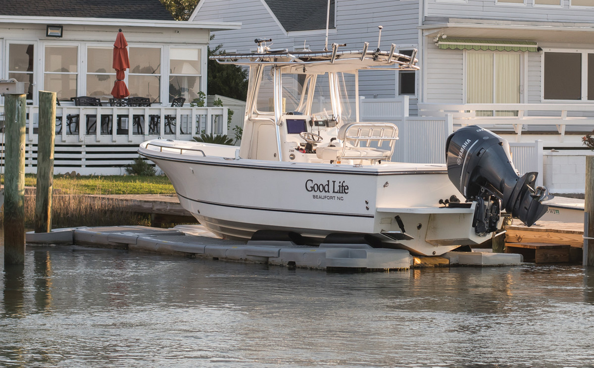 Keep your boat high and dry with a drydock, which can be towable.