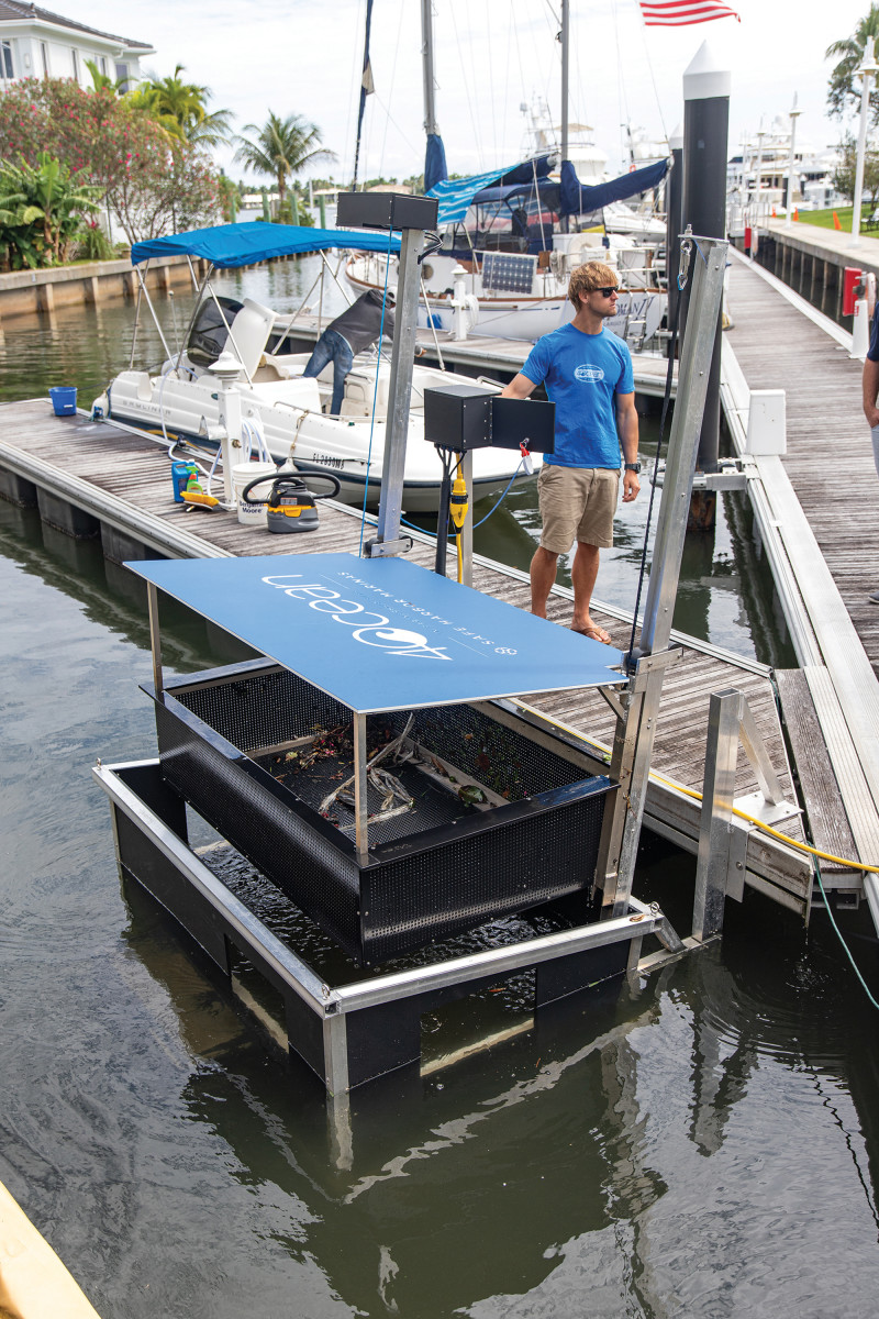 4ocean's harbor skimmers are designed to be easily accessible.