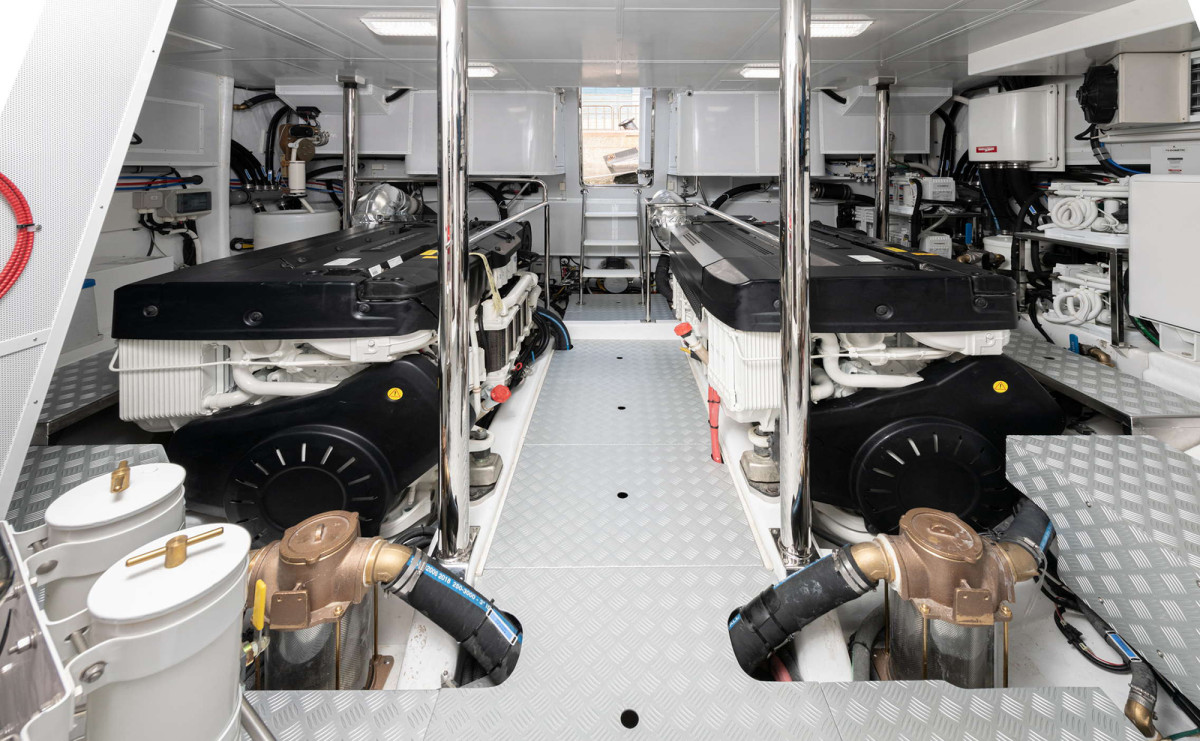 The engine room offers exceptional access.